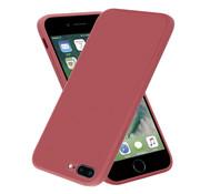 ShieldCase® iPhone 7 Plus / 8 Plus vierkante silicone case (donkerrood)