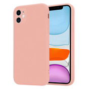 ShieldCase® iPhone 11 vierkante silicone case (roze)