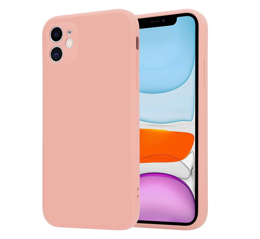 ShieldCase iPhone 11 vierkante silicone case (roze)