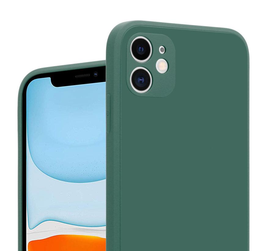 ShieldCase iPhone 11 vierkante silicone case (donkergroen)