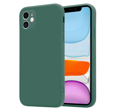 ShieldCase® ShieldCase iPhone 11 vierkante silicone case (donkergroen)