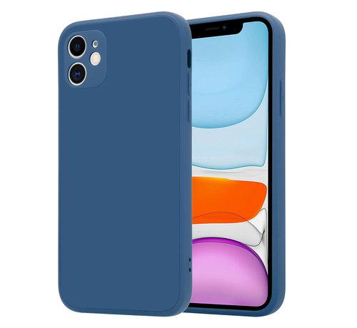 ShieldCase® ShieldCase iPhone 11 vierkante silicone case (blauw)