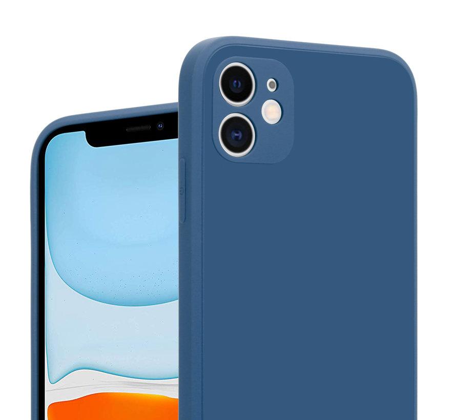ShieldCase iPhone 11 vierkante silicone case (blauw)