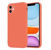 ShieldCase® iPhone 11 vierkante silicone case (oranje)