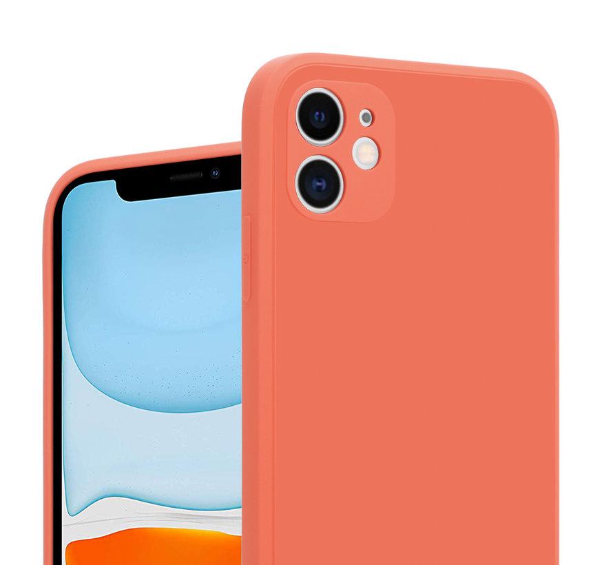 ShieldCase iPhone 11 vierkante silicone case (oranje)