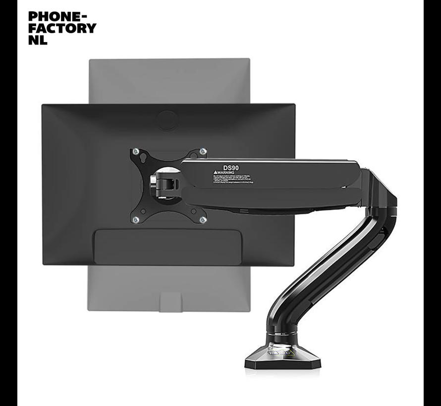 Monitorarm met gasveer - 360 graden kantelbaar - 17 tot 32 inch