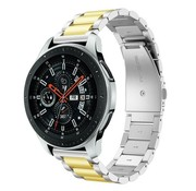 Samsung Galaxy Watch stalen band (zilver/goud)