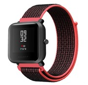 Xiaomi Amazfit Bip nylon  band (zwart/rood)