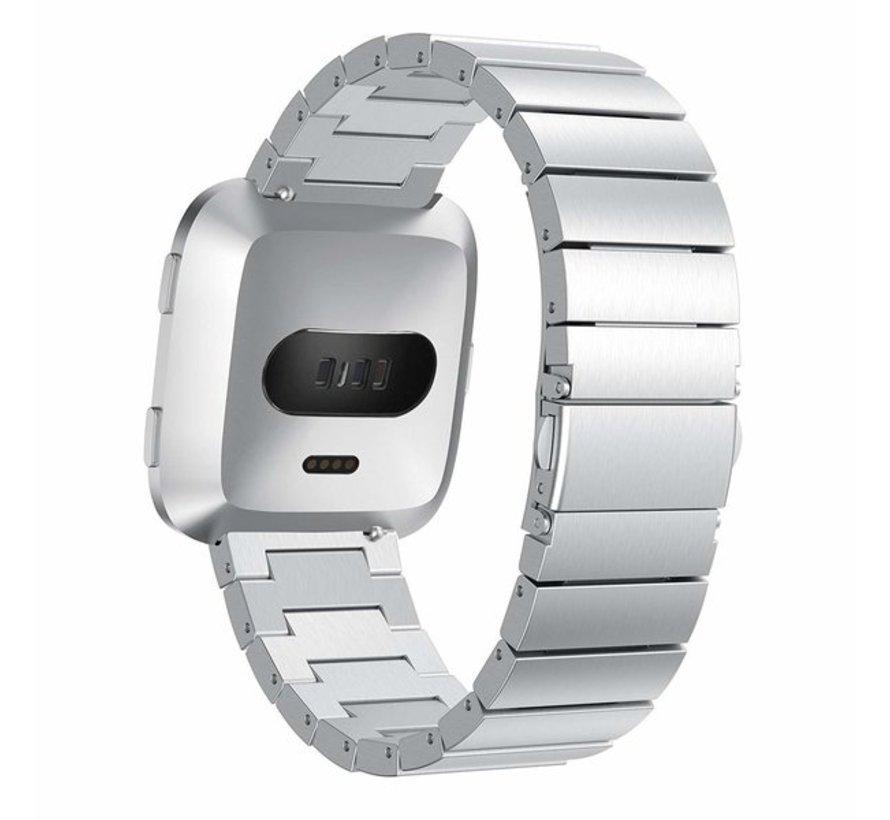 Fitbit Versa metalen bandje (zilver)