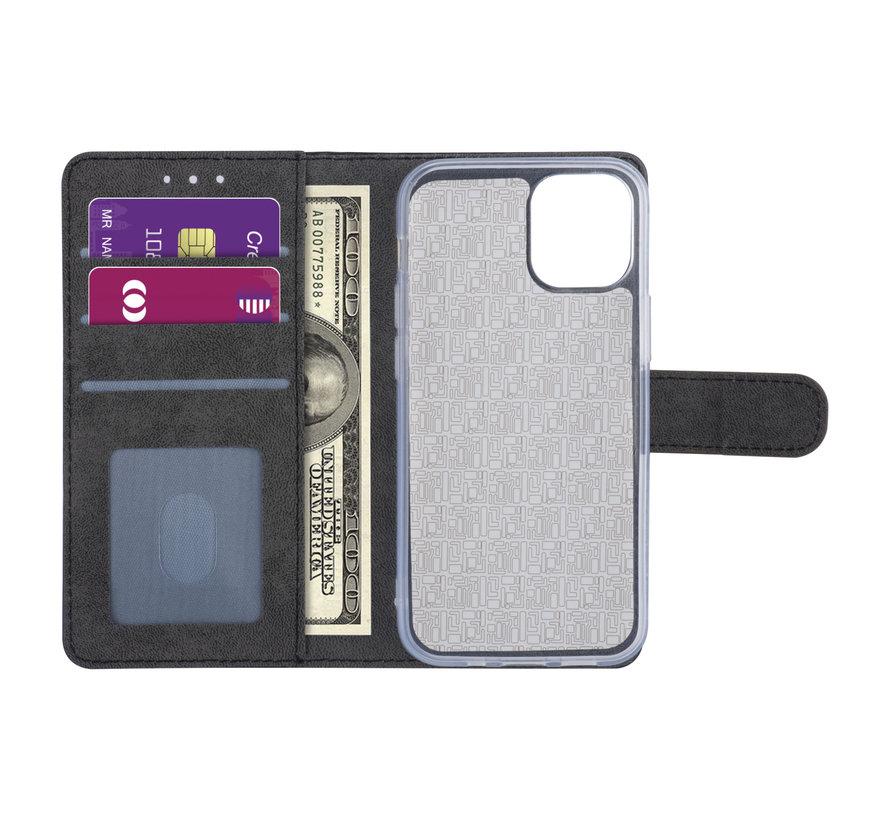 ShieldCase Booktype case iPhone 12 - 6.1 inch (bruin)