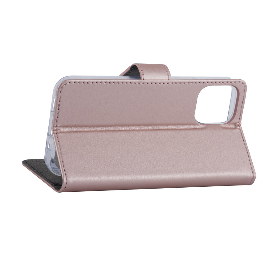 ShieldCase Booktype case iPhone 12 - 6.1 inch (roze)