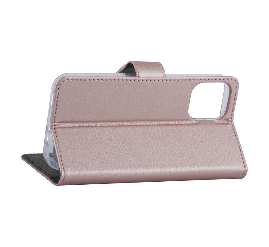 ShieldCase Booktype case iPhone 12 Pro  - 6.1 inch (roze)
