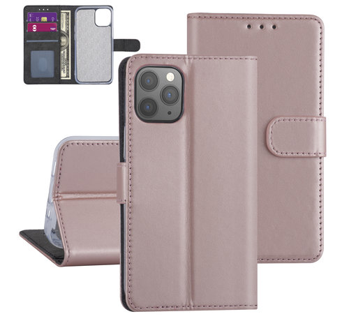 ShieldCase® ShieldCase Booktype case iPhone 12 Pro  - 6.1 inch (roze)