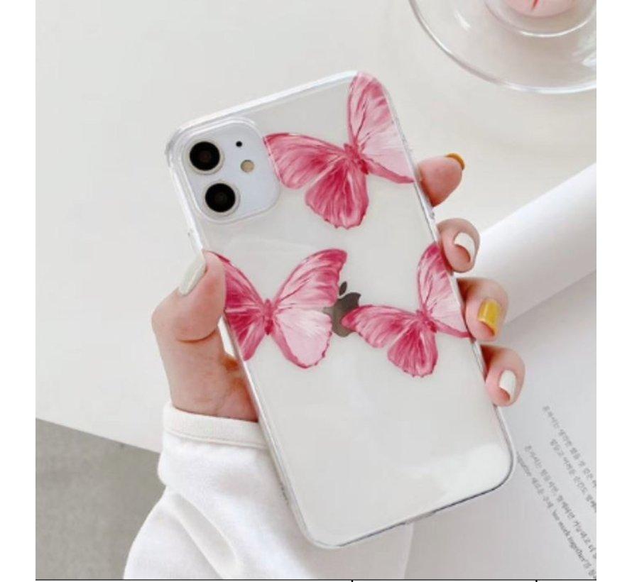 ShieldCase Pink Butterflies iPhone 11 hoesje
