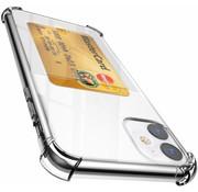 ShieldCase® Shock case met pashouder iPhone 12 - 6.1 inch