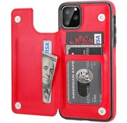 ShieldCase® Wallet case iPhone 12 Pro Max - 6.7 inch (rood)