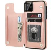 ShieldCase® Wallet case iPhone 12 Pro Max - 6.7 inch (roze)