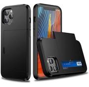 ShieldCase® Kaarthouder case met slide iPhone 12 Pro Max 6.7 inch (zwart)
