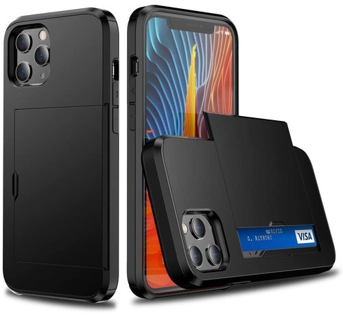 ShieldCase® ShieldCase Kaarthouder case met slide iPhone 12 Pro Max 6.7 inch (zwart)