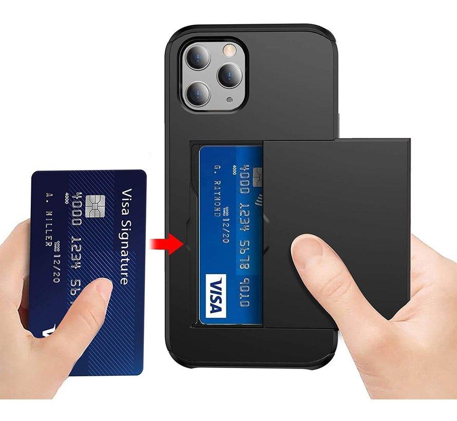 ShieldCase Kaarthouder case met slide iPhone 12 Pro Max 6.7 inch (zwart)