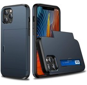 ShieldCase® Kaarthouder case met slide iPhone 12 Pro Max 6.7 inch (donkerblauw)