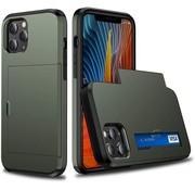 ShieldCase® Kaarthouder case met slide iPhone 12 Pro Max 6.7 inch (groen)