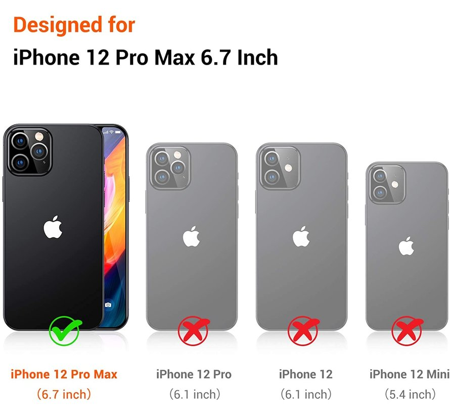 ShieldCase Rainbow iPhone 12 Pro Max 6.7 inch hoesje met koord