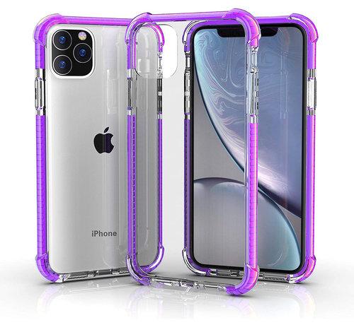 ShieldCase® ShieldCase bumper shock case iPhone 12 Pro Max 6.7 inch (paars)