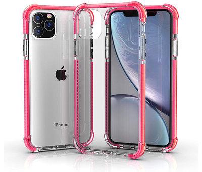 ShieldCase® ShieldCase bumper shock case iPhone 12 Pro Max 6.7 inch (roze)