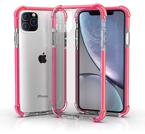 ShieldCase® ShieldCase bumper shock case iPhone 12 Pro Max 6.7 inch (roze)