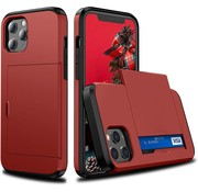 ShieldCase® Kaarthouder case met slide iPhone 12 Pro Max 6.7 inch (rood)