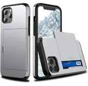 ShieldCase® Kaarthouder case met slide iPhone 12 Pro Max 6.7 inch (zilver)