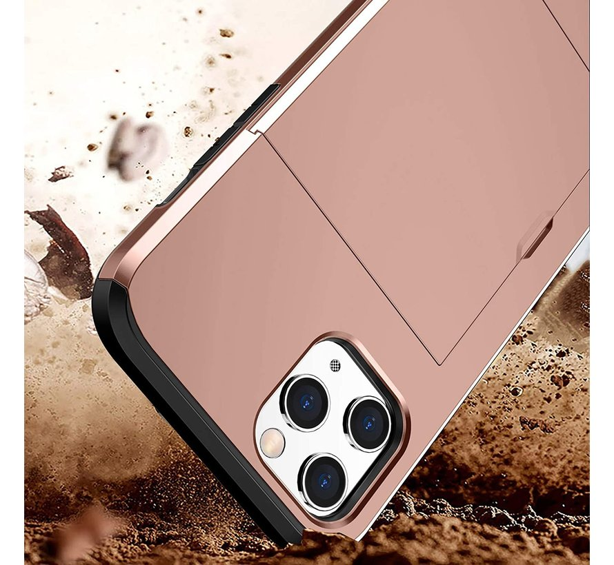 ShieldCase Kaarthouder case met slide iPhone 12 Pro Max 6.7 inch (roze)