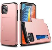 ShieldCase® Kaarthouder case met slide iPhone 12 Pro Max 6.7 inch (roze)