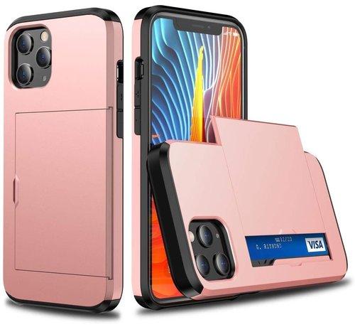 ShieldCase® ShieldCase Kaarthouder case met slide iPhone 12 Pro Max 6.7 inch (roze)