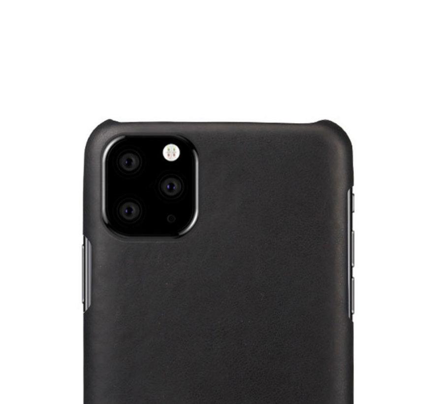 Shieldcase iPhone 12 Pro Max 6.7 inch vintage leren hoesje (zwart)