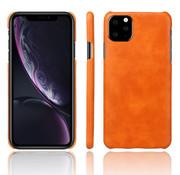 ShieldCase® iPhone 12 Pro Max 6.7 inch vintage leren hoesje (oranje)