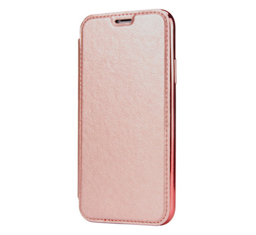 ShieldCase® ShieldCase gegalvaniseerde flipcase iPhone 12 Pro Max 6.7 inch (roze)