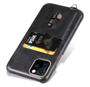 ShieldCase® Vintage case met pashouder iPhone 12 Pro Max 6.7 inch (zwart)