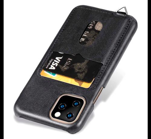 ShieldCase® ShieldCase Vintage case met pashouder iPhone 12 Pro Max 6.7 inch (zwart)