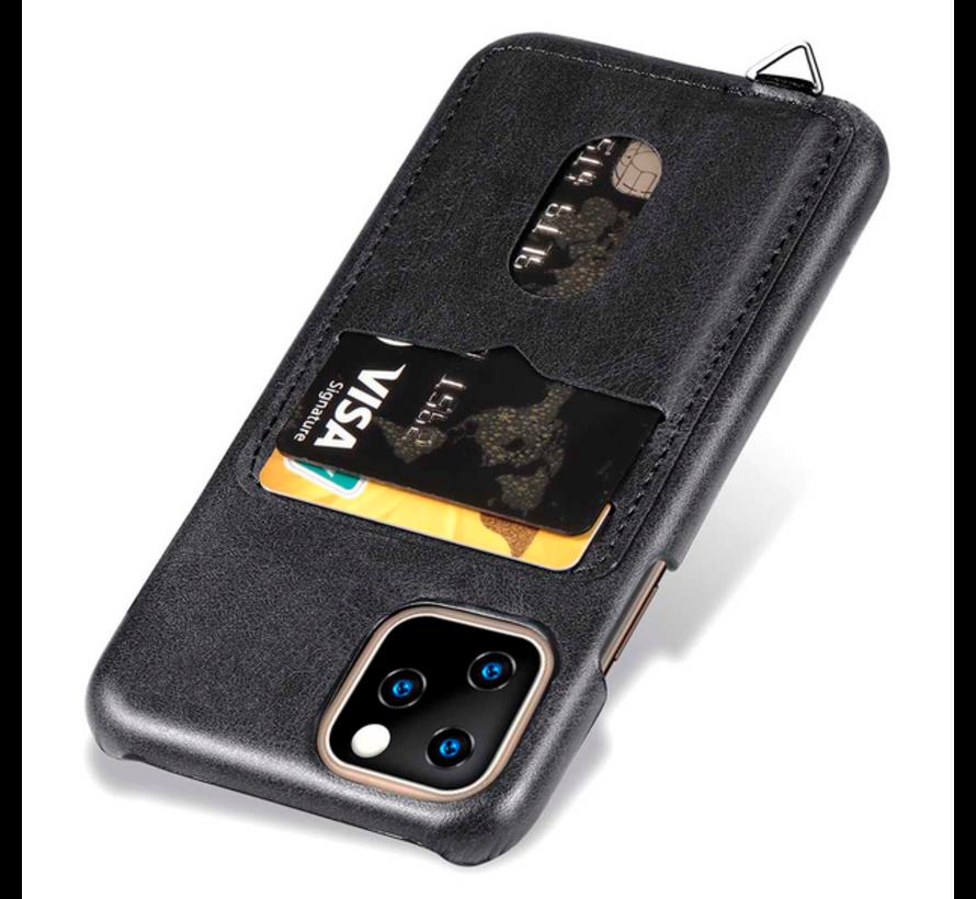 ShieldCase Vintage case met pashouder iPhone 12 Pro Max 6.7 inch (zwart)