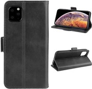 ShieldCase® iPhone 12 Pro Max bookcase zwart leer (6.7 inch)