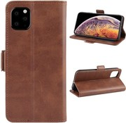 ShieldCase® Leren Bookcase iPhone 12 Pro Max 6.7 inch (bruin)