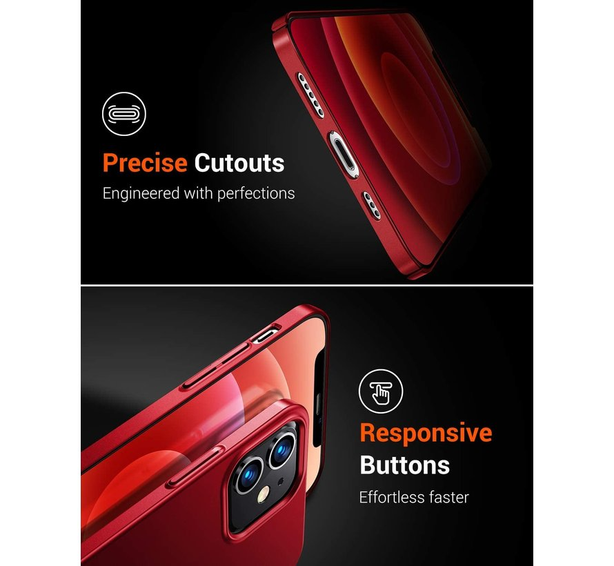 Shieldcase Ultra thin case iPhone 12 - 6.1 inch (rood)