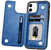ShieldCase® Wallet case iPhone 12 - 6.1 inch (blauw)