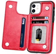 ShieldCase® Wallet case iPhone 12 - 6.1 inch (rood)