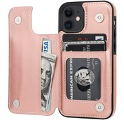 ShieldCase® Wallet case iPhone 12 - 6.1 inch (roze)