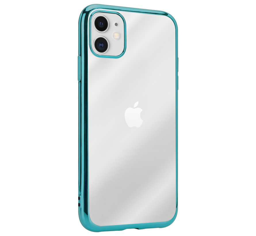 ShieldCase Metallic bumper case iPhone 12 - 6.1 inch (groen)