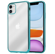 ShieldCase® Metallic bumper case iPhone 12  - 6.1 inch (groen)
