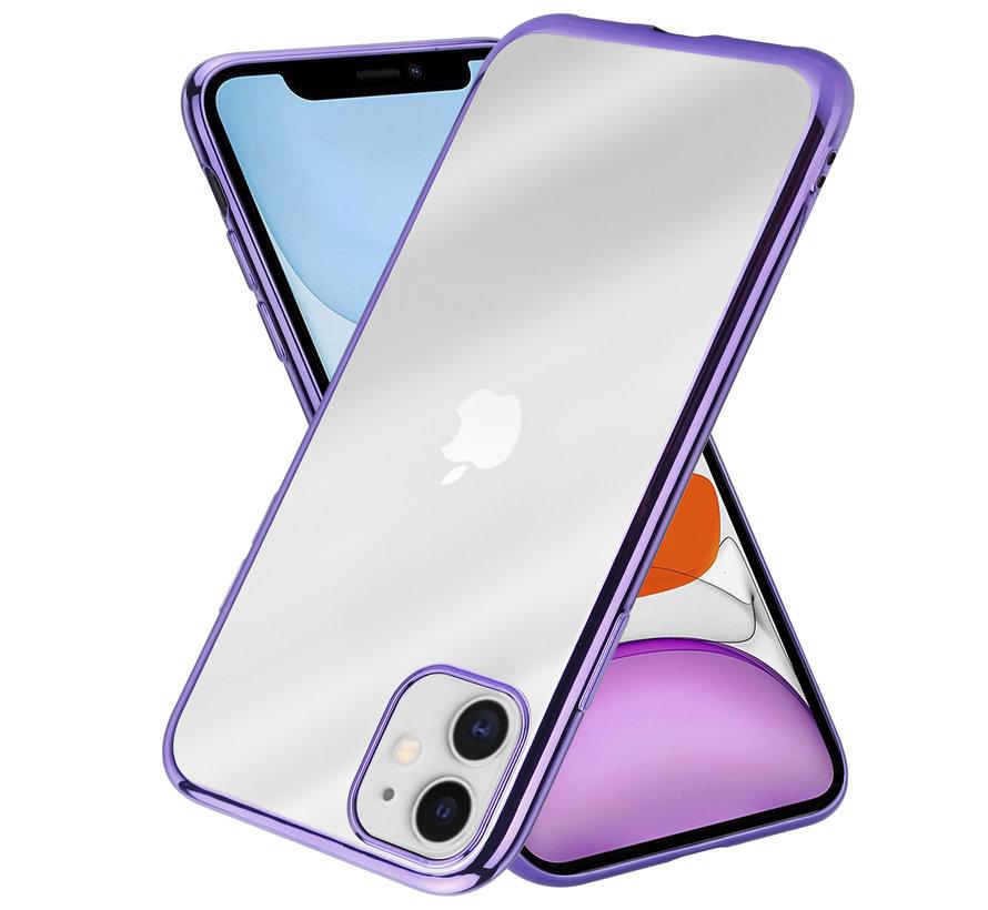 ShieldCase Metallic bumper case iPhone 12 - 6.1 inch (paars)